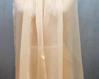 Champagne Chiffon XL Shawl Wrap
