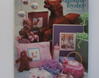 The Gumdrop Toyshop. Cross Stitch, Quilting, craft book. Vanessa-Ann Collection 1984. 47 projects.