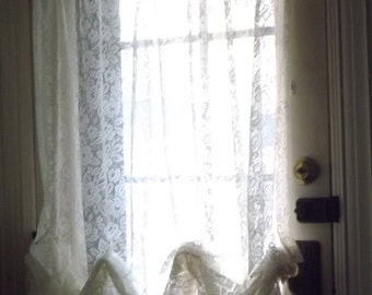 sHabby and cHic, French Country, Farmhouse, Victorian, Romantic Vintage Lace Curtains
