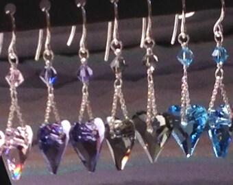 Swarovski Crystal Wild Heart Earring