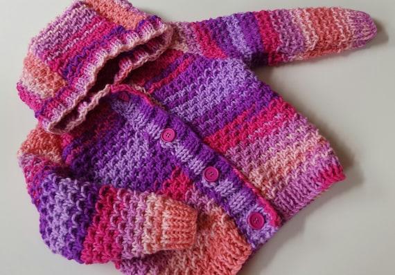 Baby Knitting Pattern Toddler Girls Or Boys Hooded