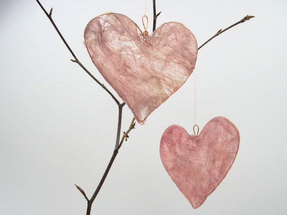 Silk Fusion Heart Pale Pink, wedding decor, anniversary gift