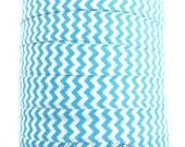 Turquoise Chevron Fold Over Elastic - Choose 1, 5 or 10 yards 5/8 inch FOE Baby Headbands Hair TiesFold Over ElasticHairbow Supplies, Etc.
