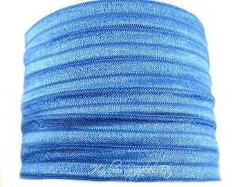 Royal Blue Fold Over Elastic - Choose 1, 5 or 10 yd 5/8 inch FOE - Hair Ties Headbands Hairbow Supplies, Etc.