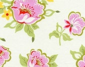 Heather Bailey - Nicey Jane - Church Flowers in Pink - pink green red large print floral - cotton quilting fabric BTY
