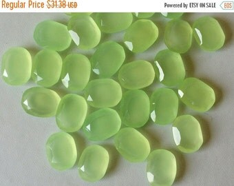 55% ON SALE Apple Green Chalcedony Table Cut Flat Back, Apple Green Cabochons, Rose Cut Cabochons, Green Gems, 12x16mm, 5 Pcs