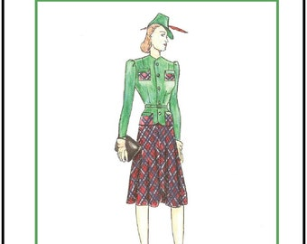 """PDF Download """"Classic 40's"""" a LivelyStitch Design sewing pattern for the Gene Marshall doll by Ashton Drake"""
