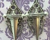Sorcery Dangle Chained Statement Piece Earrings