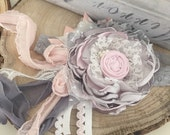 Little Lamb flower headband cozette couture
