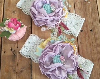Spring flower sale headband cozette couture matilda jane mustard pie dollcake