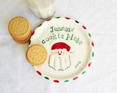 RESERVED Christmas Cookie Plate & Plaque - Plate  -  Personalized Christmas Plate - Baby Christmas Plate - Cookie Plate - Santa Cookies