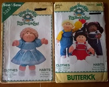 2x Cabbage Patch Kids - Clothes Patterns