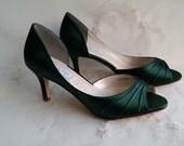 Wedding Shoes Bridal Shoes Hunter Green Wedding Shoes Hunter Green Bridal Shoes or PICK FROM 100 COLORS Bridesmaid Shoes