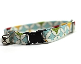 Cat Collar- Blue Diamonds