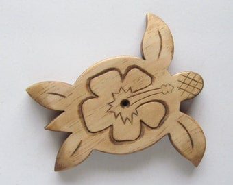 Hand carved huno/hibiscus wall art for your ukuleles