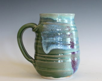 Coffee Mug, 18 oz, handmade ceramic cup, ceramic stoneware mug, coffee cup
