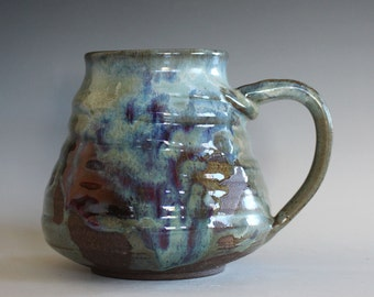 EXTRA LARGE Mug, 32 oz, handthrown ceramic mug, stoneware pottery mug, unique coffee mug
