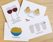 Set of 4 Gilmore Girls Hand Drawn Greeting Cards