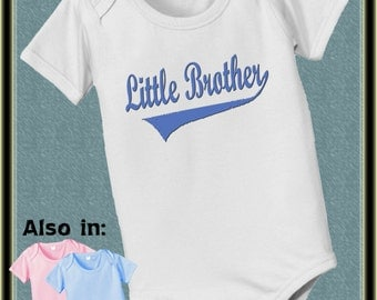 Little Brother Shirt - Little Brother Swoosh - I'm the Little brother Bodysuit baby infant new baby little Brother annoucement t-shirt
