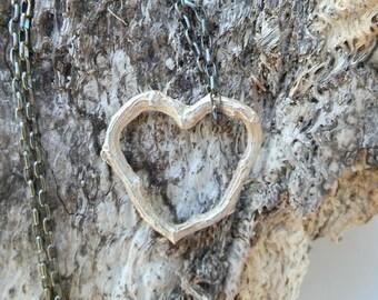 Heart Twig Sterling Silver