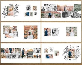 Floral Wedding 10×10 Album INSTANT DOWNLOAD