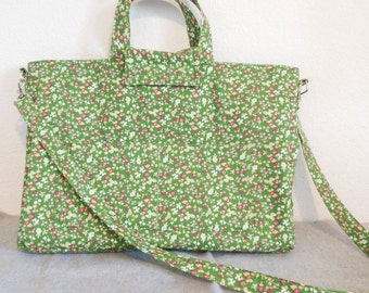 Laptop Bag - Green Floral