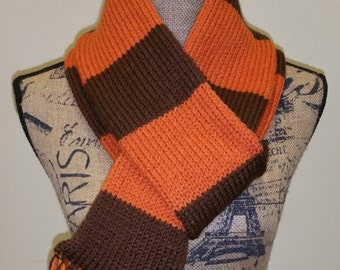 Orange and brown scarf