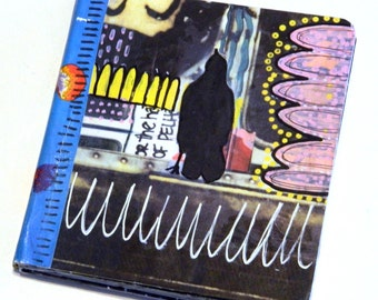 Funky Crow altered board book original