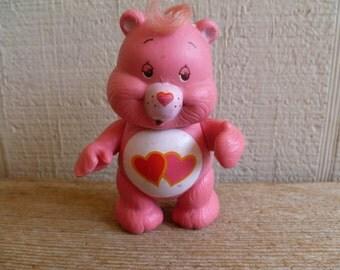 Care Bears Love a Lot Bear Poseable PVC