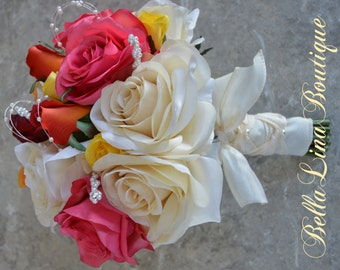 Deposit for Custom Wedding Flowers - Bouquets, Corsages, Boutinee - Please Read Below