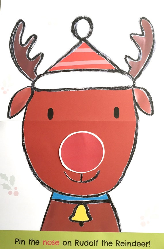 Printable Pin the Nose on Rudolf the Red Nosed Reindeer Christmas ...