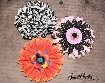 Flower Hair Clip ~ Rockabilly & Pinup Accessory