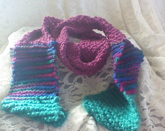 Color-blocked scarf