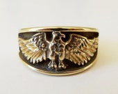 Vintage OTT Gold Plated Sterling Silver Eagle Ring Size 10