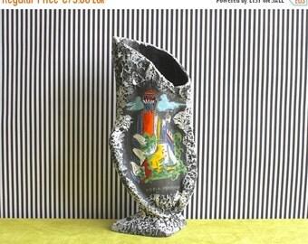 Summersale LARGE Mid Century Modern Italian Biomorphic Pottery Vase San Marino