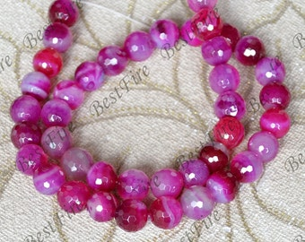 Single 10mm Faceted Round Agate Gemstone Beads ,agate stone beads loose strands,agate beads findings