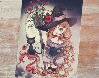 Bewitching - Open edition art postcard