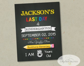 Last Day of School Chalkboard Print | Editable Text, DIY, Art Print, Chalkboard Sign, Kindergarten, Grade School | INSTANT DOWNLOAD