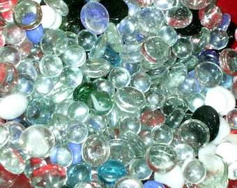 350+ Glass Pebbles Cabochons Marbles Gems for Crafts Jewelry Mosaics Stained Glass Vase Terrarium Decor