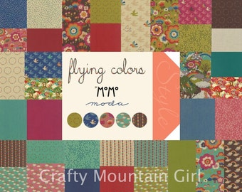 Flying Colors Fat Quarter Bundle by MoMo for Moda