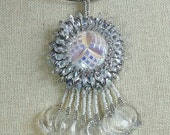 LoveU ICE PRINCESS Bead Embroidered Super Duo Necklace