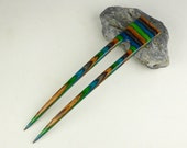 Reserved for Happycrafting  Two 2  Prong Hair Fork made from Field & Streem DymondWood-  Very durable. Water resistant.