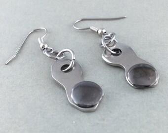 BMX earrings, cycling earrings, bicycle jewelry, rivetted bike earrings, bike accessory, cycling gift
