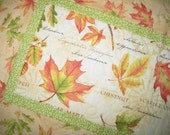 Leaves Table Runner, Fall, Autumn, Leaves, quilted, fabric from Wilmington Prints