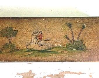 Antique Hand-Painted Italian Wood Box