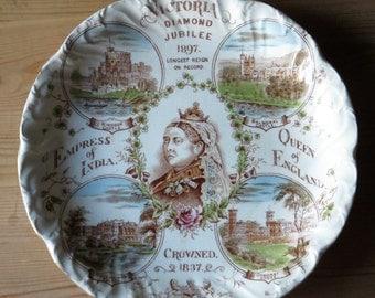 Queen Victoria Memorial Plate....Diamond Jubilee 1897