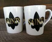 Custom for Katie....Coffee Mug, Saints Decor, New Orleans Saints, Mug, Coffee Cup, Wedding Gifts, Birthday Gifts, Gifts