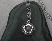 Silver Sunflower Necklace - Sunflower Jewelry - Silver Necklace - Sunflower Pendant