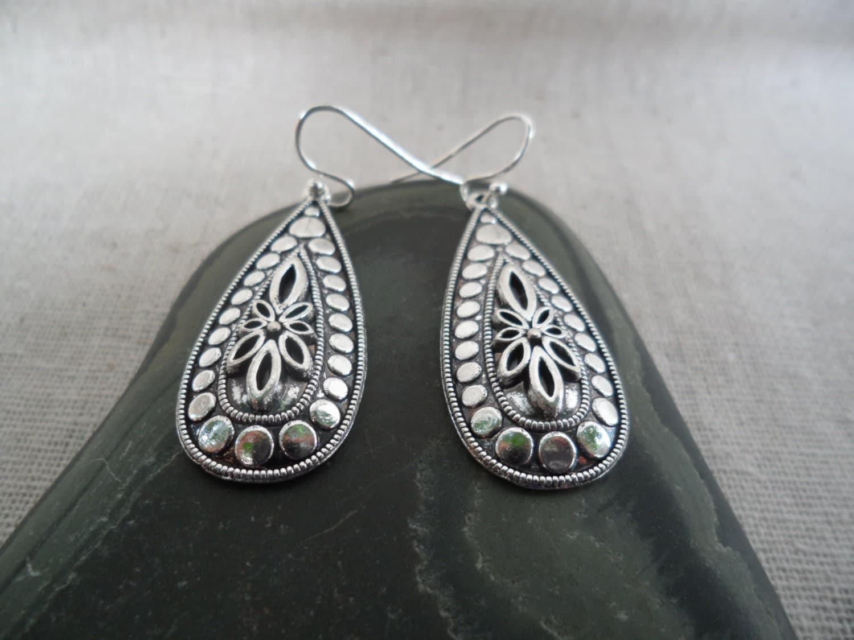 Silver Bohemian Earrings simple everyday silver earrings
