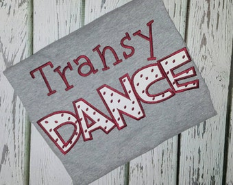 Personalized Dance Shirt with school or company name